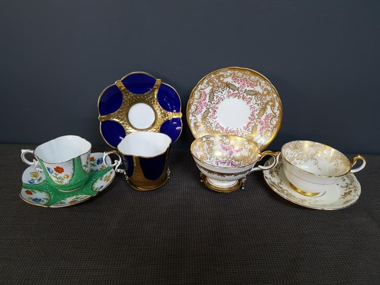 Lot of 4 Aynsley Teacups and Saucers