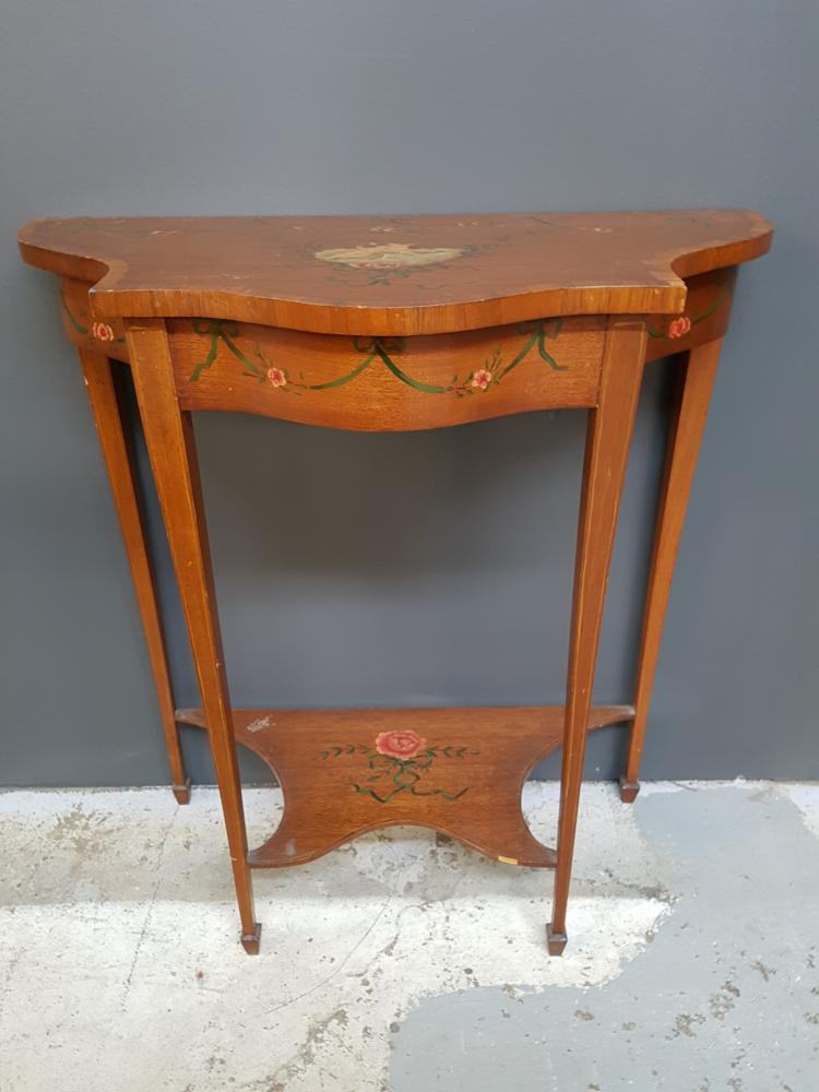 Edwardian Handpainted Side Table