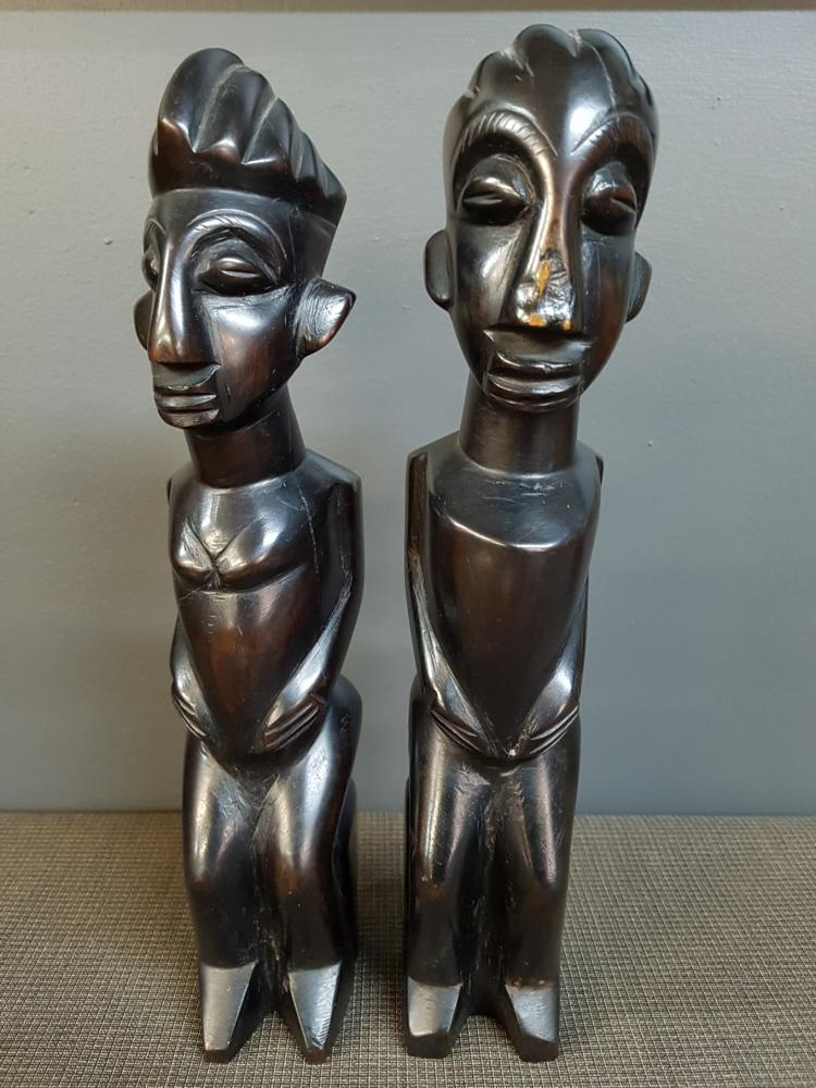 Pair of African Figural Sculptures