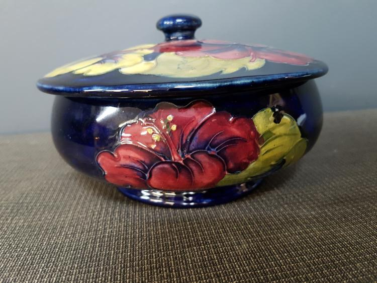 Moorcroft Hibiscus Lidded Dish