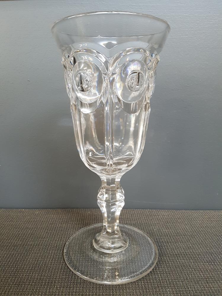 Antique Cut Crystal Celery Vase