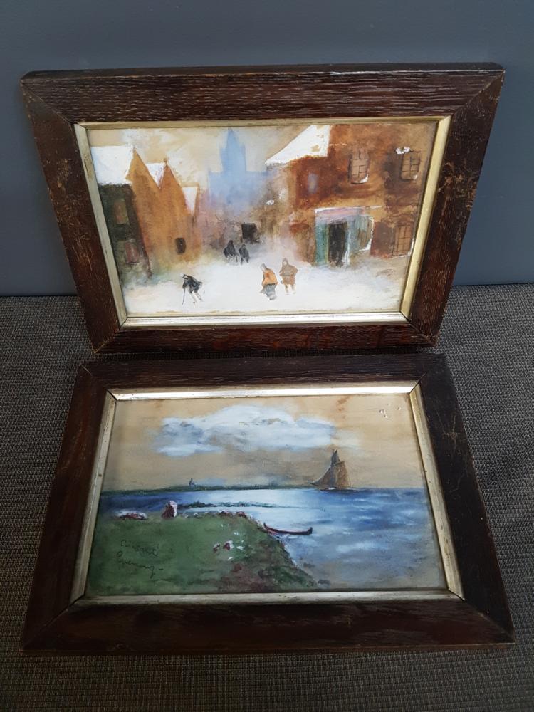 Pair of 19th Century Canadian Watercolors