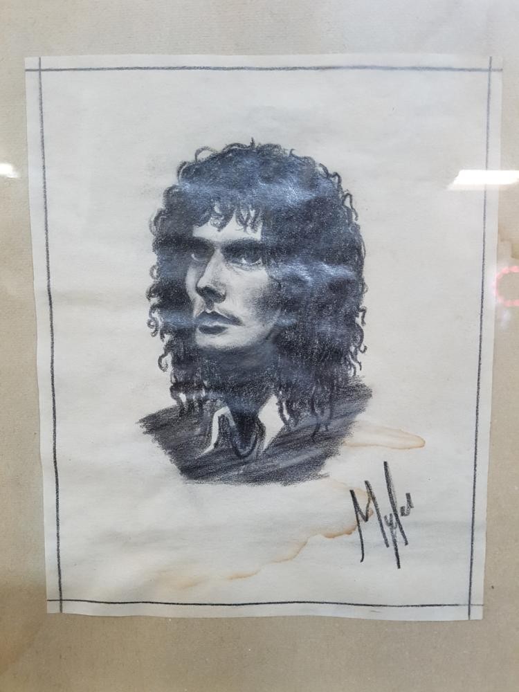 Gino Vanelli Drawing, Signed