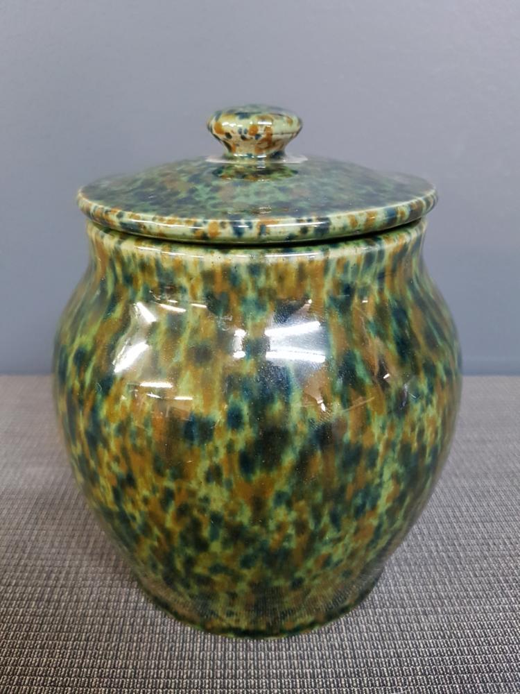 Finsbury English Lidded Pot, Splatter Design