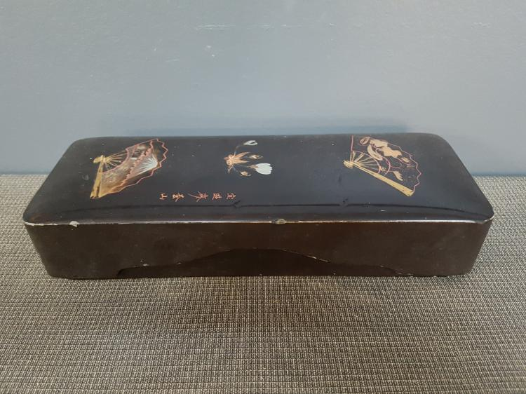 19th C. Japanese Lacquer Lidded Box