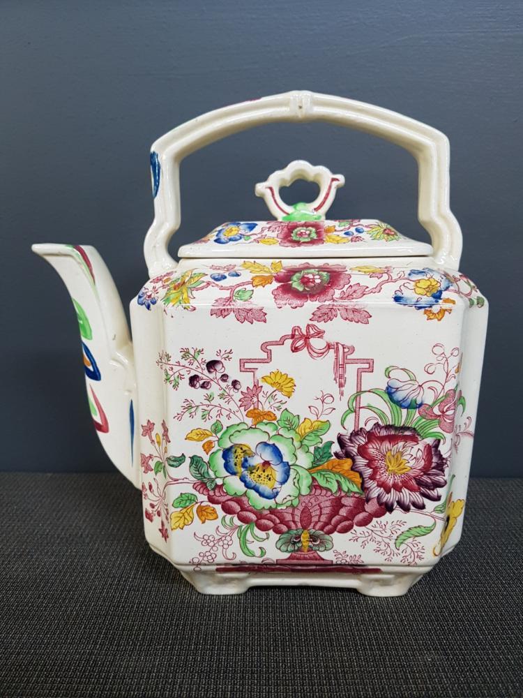 Mason's Ironstone China Floral Teapot