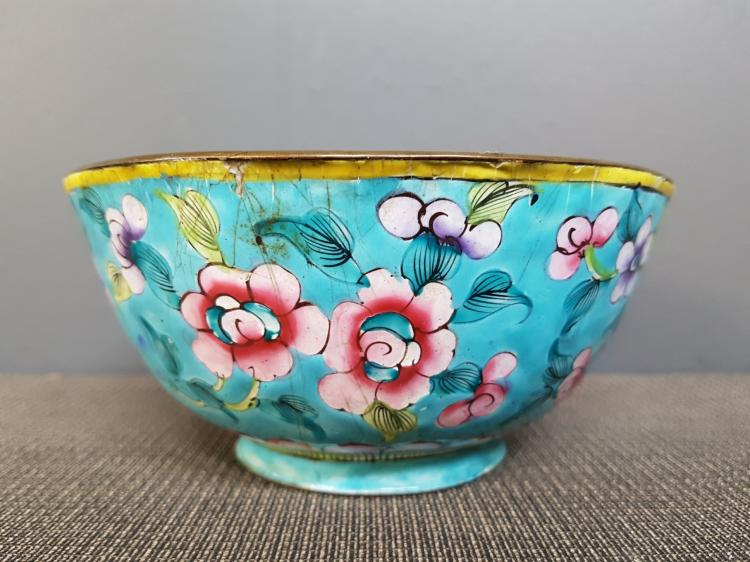 Chinese Enameled Bowl, Early 20th Century
