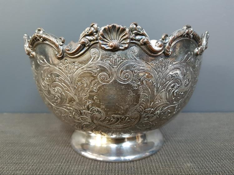 19th C. Silver Plated Barker Brothers Rose Bowl