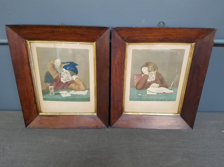 Pair of George III Colored Engraving