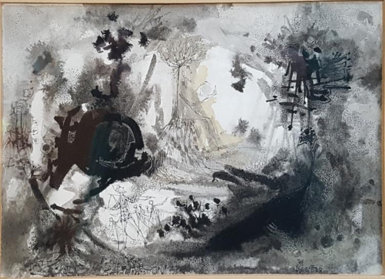 Jan Funnekotter (1929 - , Canadian) Watercolor