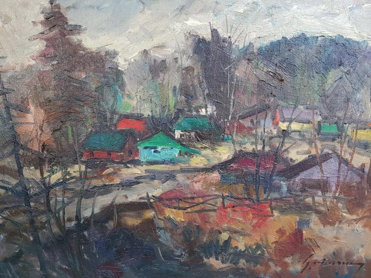 Geza Gordon Marich (1913 - 1985, Canadian) Oil on Canvas Landscape