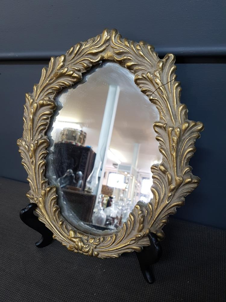 Vintage Carved Gilt Wood Acanthus Mirror