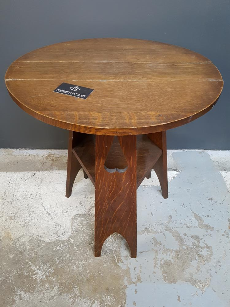 Mission Arts and Crafts Side Table 1/4 Sawn Oak