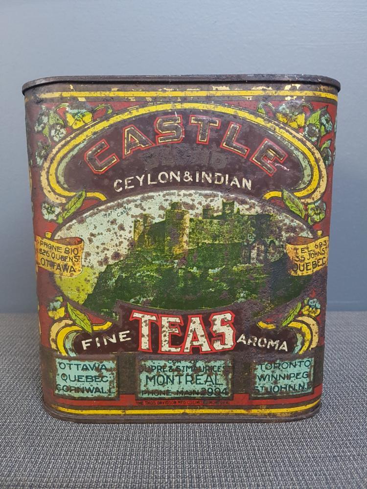 Antique Castle Blend Tea Tin