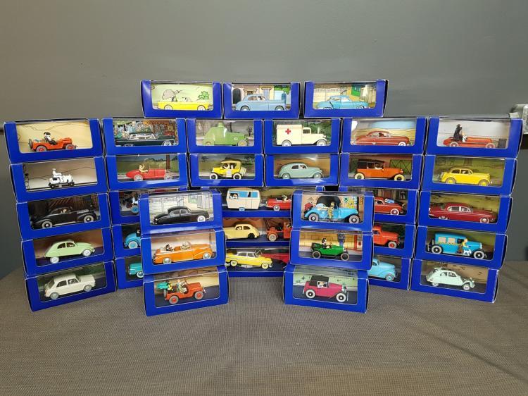Lot of 36 Vintage Tintin Toys in Original Boxes