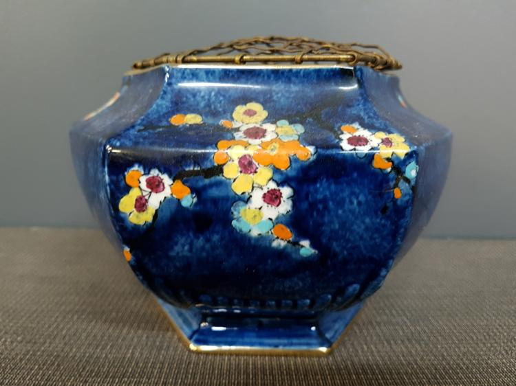 Rideau Ware for Henry Birks and Sons Bowl Vase with Frog