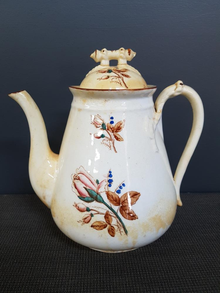 19th Century Handpainted Coffee Pot