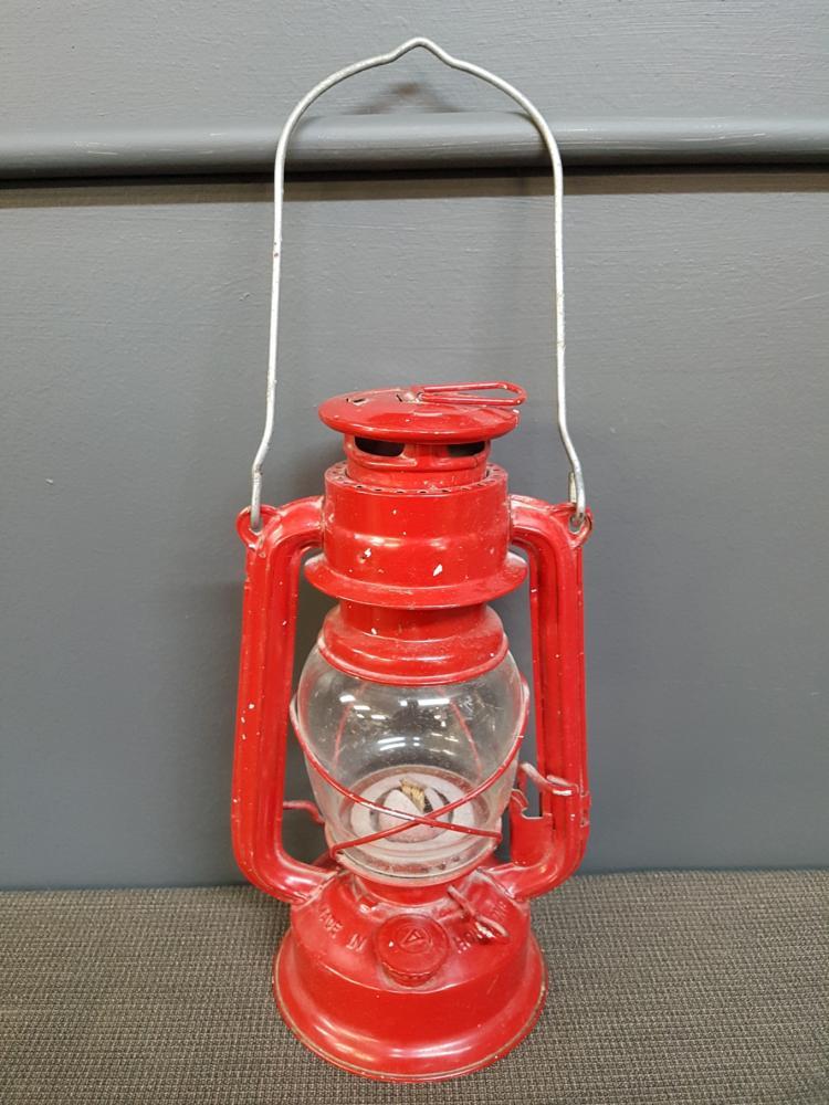 Vintage Red Oil Lantern