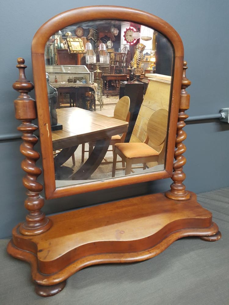 19th Century Barley Twist Dressing Mirror