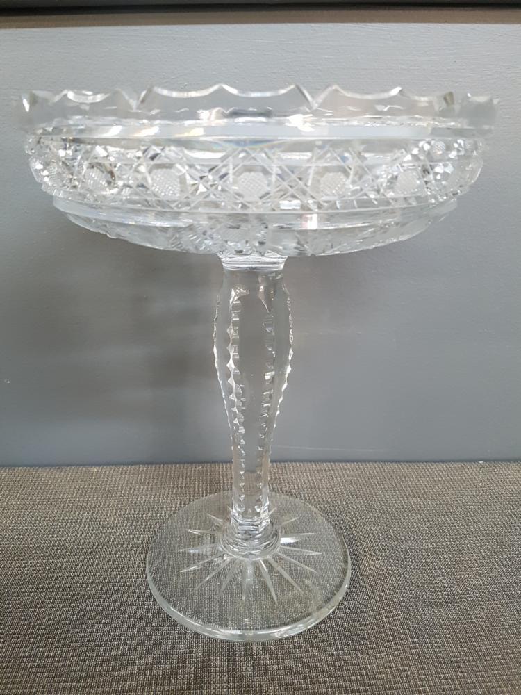 Pinwheel Crystal Compote