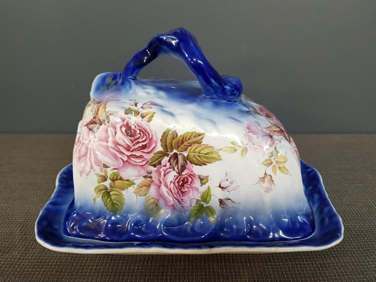 Antique 19th Century Cheese Bell, Decorated with Roses
