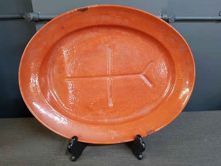 Chinese Red Ware Platter