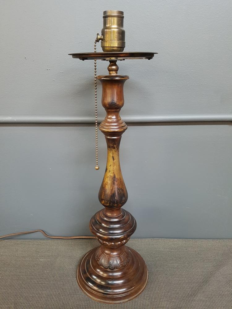 Brass Oriental Style Lamp Base