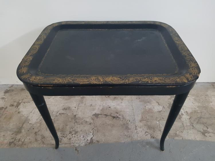 Antique Papier Mache Tray Table