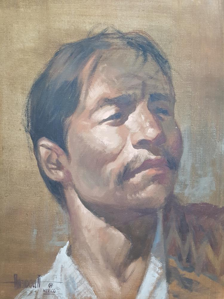 Portrait of a Mexican Man, 1964 by Anendolla