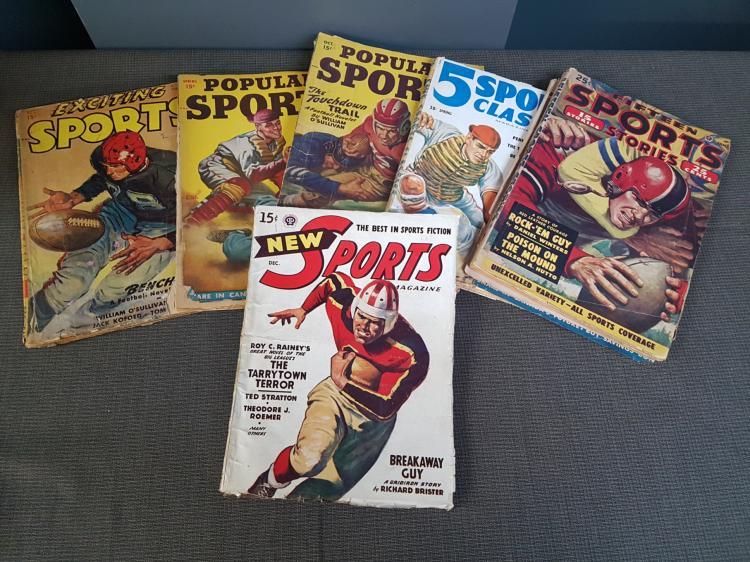 Lot of Vintage Sports Magazines