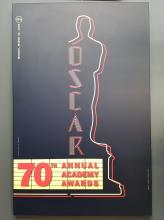 Original Oscar Poster 70th Annual Academy Awards Laminated