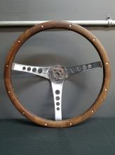 Superior Performance Products Wood and Chrome The 500 Vintage Steering Wheel