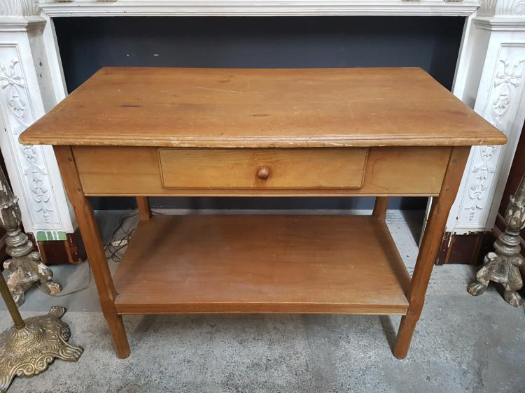 Antique pine side table for Furniture auctions uk