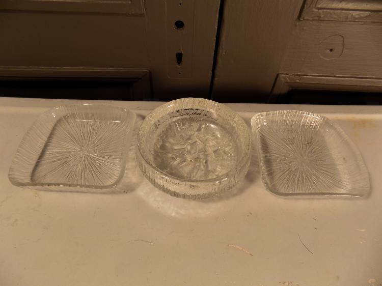 Lot of 3 Mid-Century Iitalla Style Glass