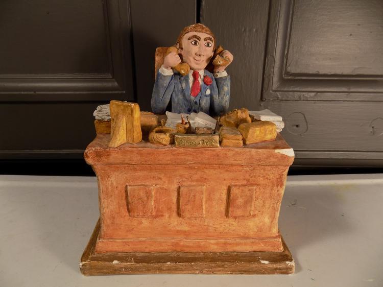 Dennis Aarons Plaster Sculpture