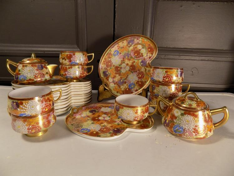 22-pc Japanese Teaset (Incomplete)