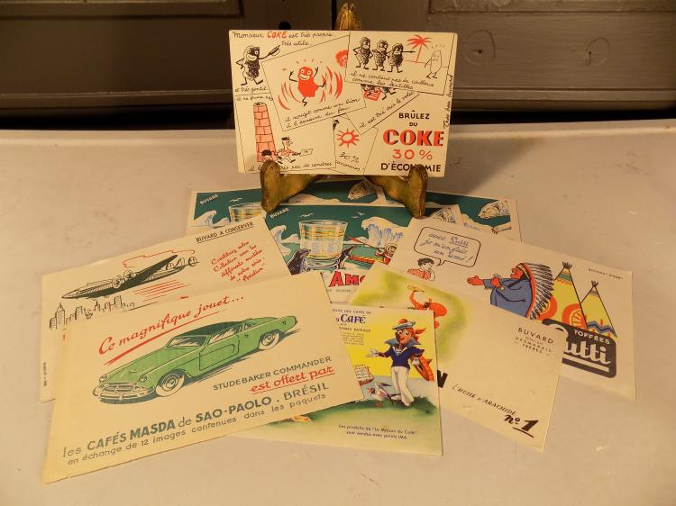 Lot of 9 Vintage French Advertising Cards