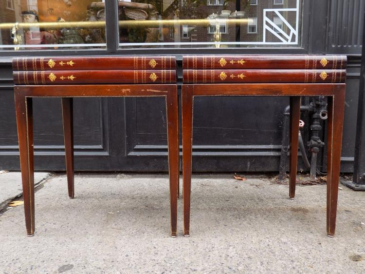 Pair of Vintage Faux Book Night Tables
