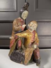 Japanese Polychrome Porcelain Statue