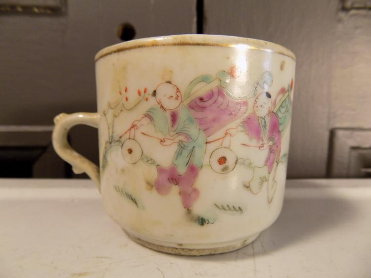 Antique Chinese Tea Cup with Handle