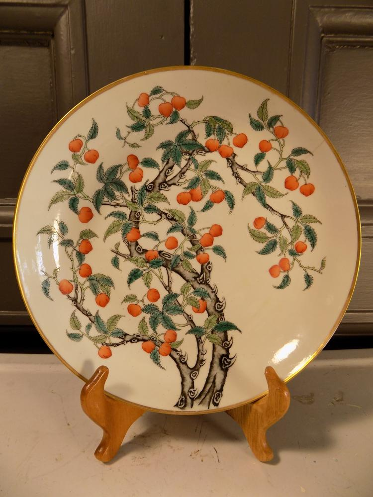 Very Fine Qing Dynasty Peach Plate