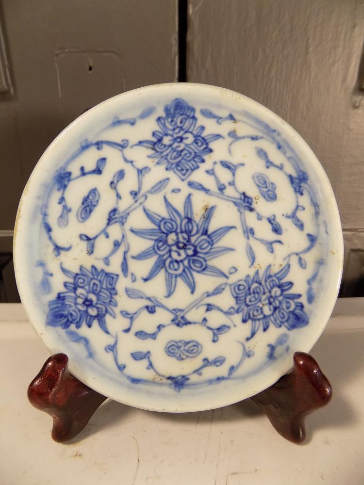Chinese Blue and White Chrysanthemum Plate