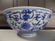 Large Kangxi Blue and White Bowl