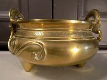 19th Century Chinese Bronze Censer Bowl with Xuande Mark