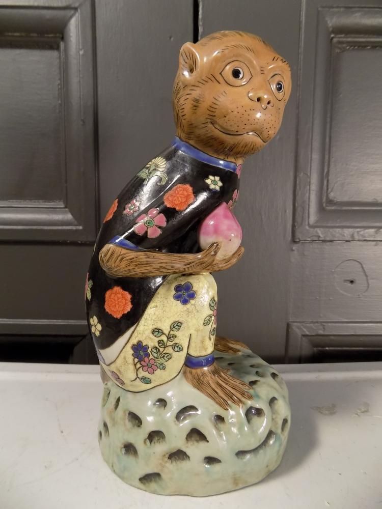 Chinese Porcelain Monkey Statue