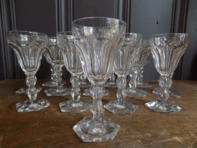 Val St. Lambert partial stemware service in the Lalaing pattern, c.1950's