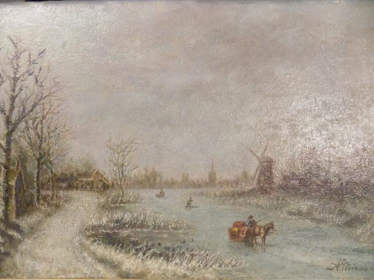 Signed Oil on Board 1954