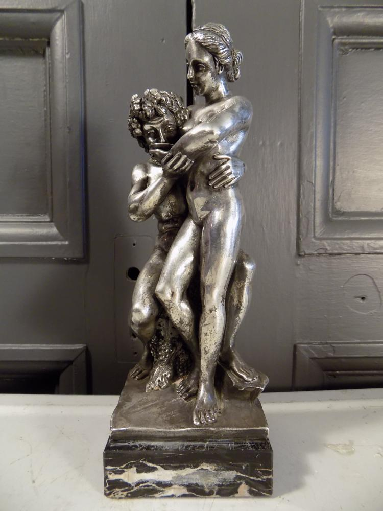 Sterling Silver Statue on Marble Base