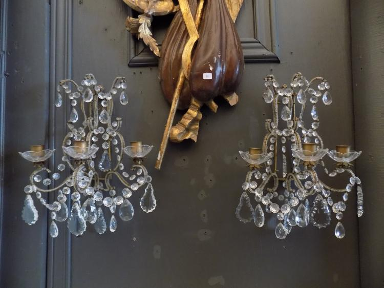 Pair of French Empire Sconces