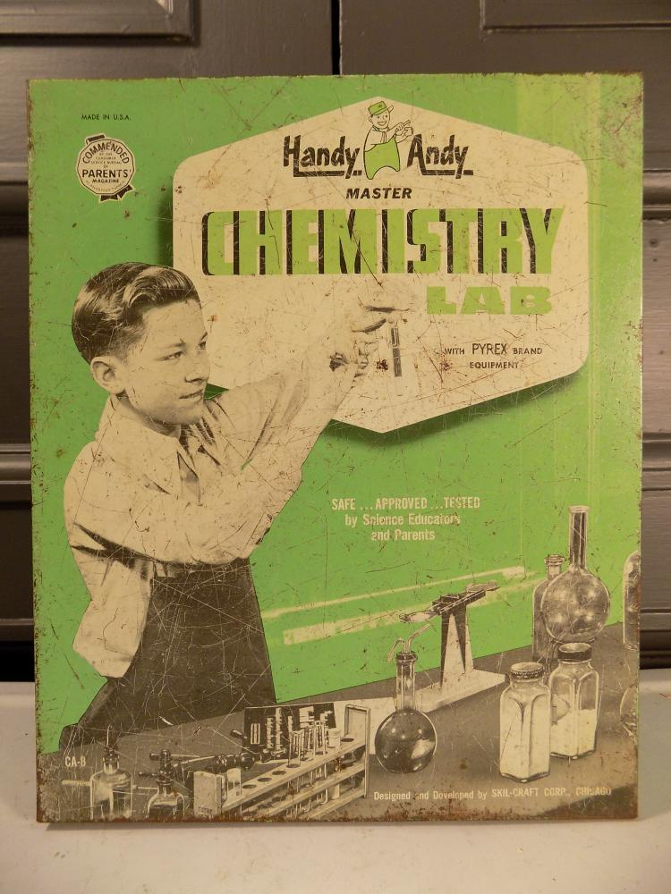 Vintage Handy Andy Chemistry Lab Box